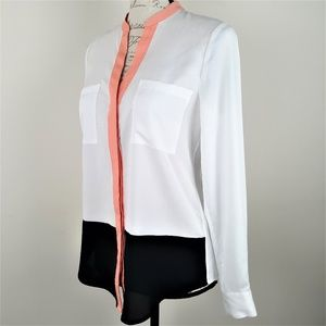 Ivanka Trump Sheer Color Block Blouse  XS